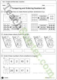 number worksheets number and place value worksheets year 1