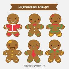 collection of decorated gingerbread man cookies vector free download