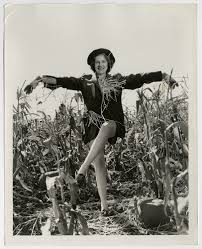 actress shirley ross posing as a pinup scarecrow 1936 vintage