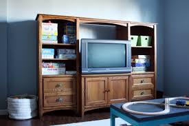 Bookshelf Entertainment Center Iheart Organizing Our Painted Entertainment Center Reveal And How To