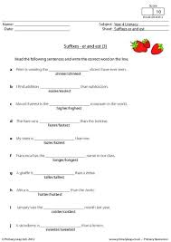 suffixes this worksheet is all about suffixes children are asked