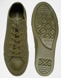 Comfortable Converse Shoes Converse Chuck Taylor All Star Mono Leather Green Men Shoes 4905391
