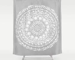 Light Grey Shower Curtain Shower Curtain Great Gatsby Art Deco Fabric Shower Curtain
