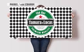 Famosos Painel Chá Bar Boteco Heineken Personalizado Nome no Elo7 | Mania  #CL41