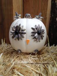 made white owl pumpkin by taz creations custommade