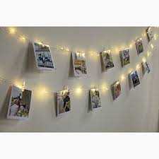 string lights with picture clips led photo clip string lights edola warm white flexible copper wire
