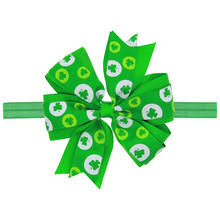 shamrock ribbon popular shamrock bow buy cheap shamrock bow lots from china