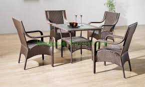 Rattan Dining Room Chairs Indoor Rattan Dining Chairs With Table Dining Room Furniture In
