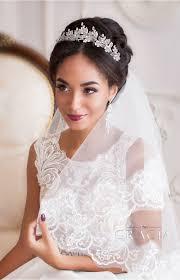 bridal tiara amara silver leaf flower bridal tiara wedding crown by topgracia