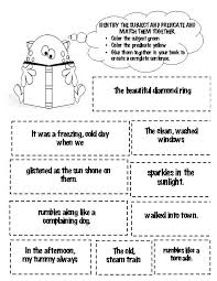 all worksheets second grade subject and predicate worksheets
