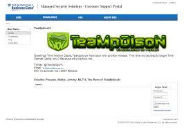 teamp0ison hacks time warner cable business website dumps