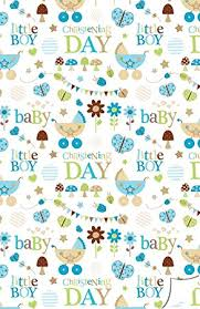 Amazon Gift Wrap Paper - christening gift wrap for a baby boy including gift tag s luxury