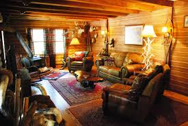 Living Room Small Decor And Decorations Living Room With Hunting Theme Also Wood Log Wall