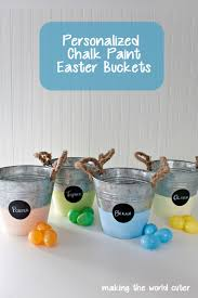 painted easter buckets easter mantel decorating ideas in two different styles