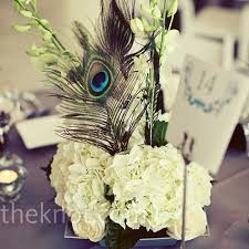 feather centerpieces feather wedding centerpieces