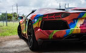 red chrome lamborghini lamborghini aventador 2015 miami car wraps