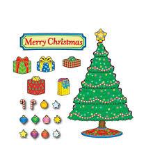 christmas tree mini bulletin board set grade pk 5 carson dellosa