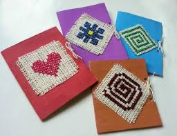 diy cross stitched card 6 steps with pictures