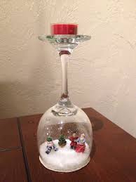 wine glass snow globes wine glass snow globes craft projects for every fan wine glass