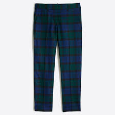 skimmer pant in plaid women u0027s pants j crew