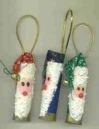santa ornaments made from recycled shotgun shells by touchofmabe