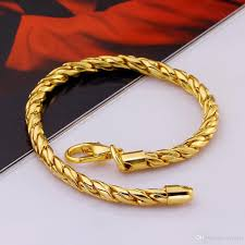 multi tone gold bracelet images 2018 fashion popular 18k gold plated jewelry 5mm twist rope chain jpg
