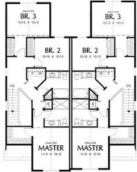 craftsman duplex home plan upper duplex pinterest home