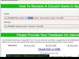Sql Server Alter Table Change Column Name How To Rename A Column Name In Sql Server