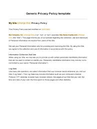 privacy policy template 5 free templates in pdf word excel