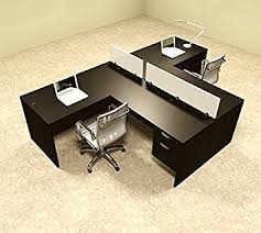 Office Workstation Desk Two Person L Shaped Divider Office Workstation Desk