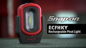 rechargeable magnetic work light rechargeable pivot light ecfhky snap on tools youtube