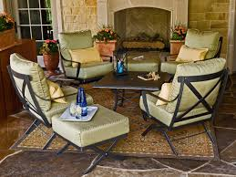 Wrought Iron Patio Dining Set - exterior appealing outdoor furniture design by woodard furniture