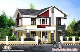 Modern Style House Plans Modern Contemporary Style Home Exterior Home Kerala Plans Not