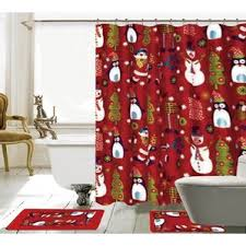 christmas sets christmas shower curtain sets wayfair