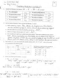 balancing redox reactions worksheet worksheets