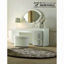 Contemporary Vanity Table Luxury Modern Day White Dressing Table With Mirror And Lighting