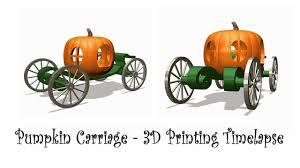 Pumpkin Carriage Halloween Enchanted Pumpkin Carriage Timelapse 3d Printing