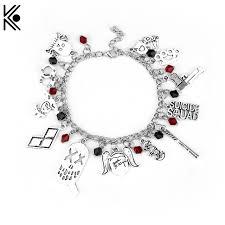 design charm bracelet images New design suicide squad charm bracelet joker quinn multiple clown jpg