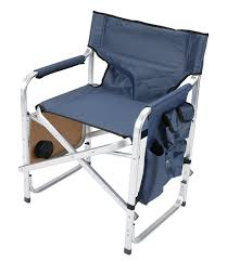 Blue Patio Chairs Amazon Com Faulkner Aluminum Director Chair With Folding Tray And