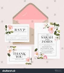 Official Invitation Card Wedding Collectionwedding Designinvitation Card Stock Vector