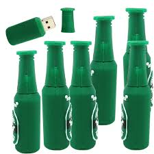cartoon beer bottle green beer bottle 128g fashion cartoon usb flash drive disk memory