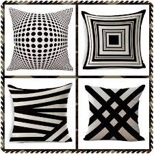 coussin bureau maiyubo nordique rétro géométrique coussin abstraite plaid treillis