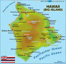 United States Map With Oceans by Map Of Hawaii Big Island United States Usa Map In The Atlas
