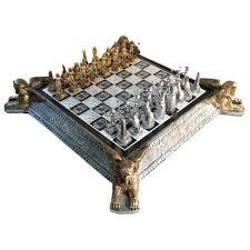 Unique Chess Set Deluxe Egyptian Chess Set W Storage Board