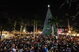delray to light 100 ft tree at school square