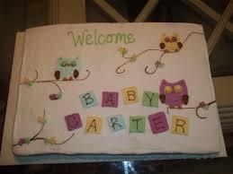 baby owl baby shower cake cakecentral com