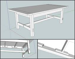 arts and crafts dining table rickety furniture
