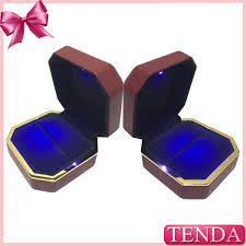 engagement ring boxes that light up antique led lighting leather rubber painting proposal wedding