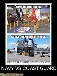 Funny Navy Memes - coast guard vs navy are the ratings the same rallypoint