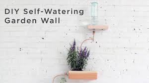 diy self watering wall garden made out of 4x4s youtube